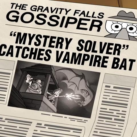 Гигантские летучие мыши в газете