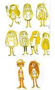 Algunos diseños de Dipper y Mabel por Brigette Barrager