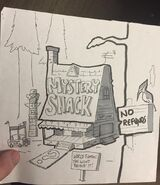 Alex Hirsch early mystery shack like an iHop