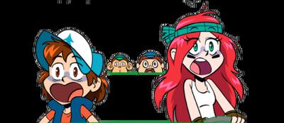 Wendy y Dipper version anime apariencia