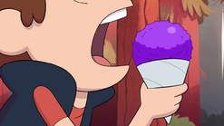 S1e9 dipper eating freezy cone