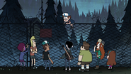 S1e5 everyone is over the fence except dipper