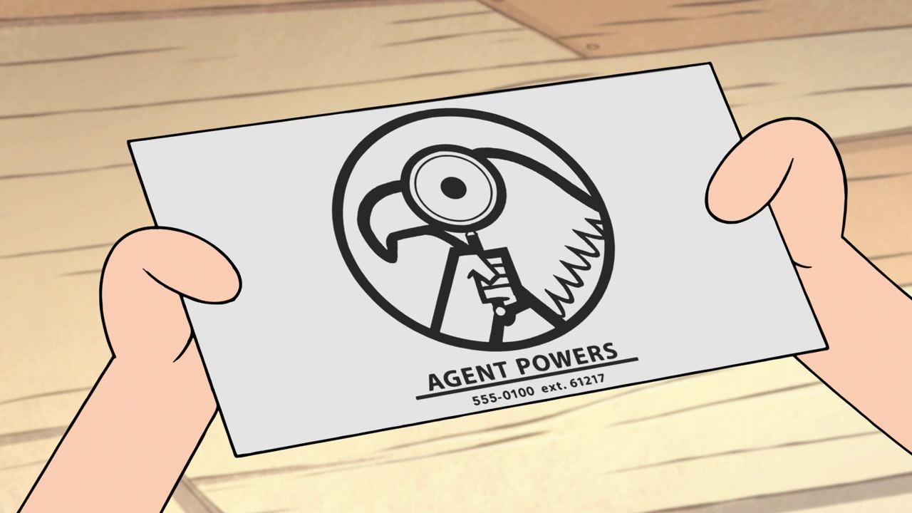 Image - S2e1 powers business card.png | Gravity Falls Wiki | FANDOM ...