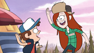 S1e5 wendy and dipper about to high five