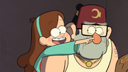 S1e3 mabel touching grunkle stan's nose
