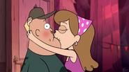 S1e16 kissy face