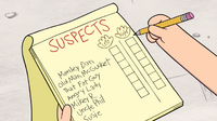 S1e3 list of suspects
