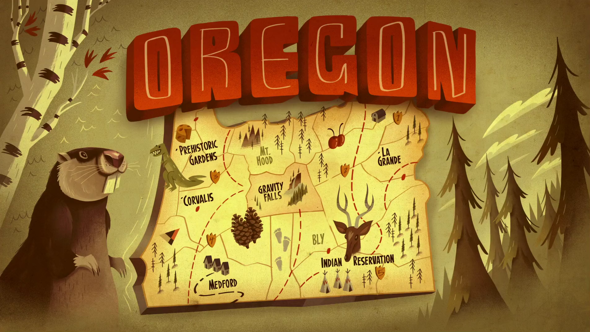 Gravity Falls Oregon Map Gravity Falls, Oregon | Gravity Falls Wiki | FANDOM powered by Wikia Gravity Falls Oregon Map