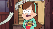S1e3 mabel holding a camera