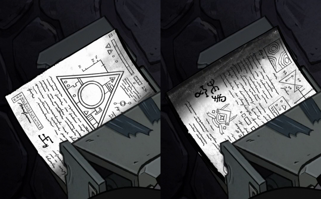 File:S2e1 photocopied pages.png