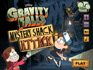 Mystery Shack Attack menu