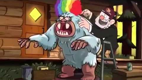 Putting A Rainbow Wig, On A Big White Gorilla