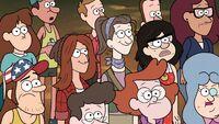 S2e14 Gravity Falls writers cameo