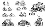 Ian Worrel Concept mystery shack sketches1