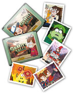 Sticker packages and stickers panini