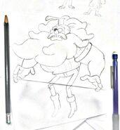 Lumberjack Ghost Concept Sketch
