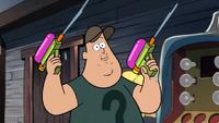 Soos con dos pistolas de agua S1E20