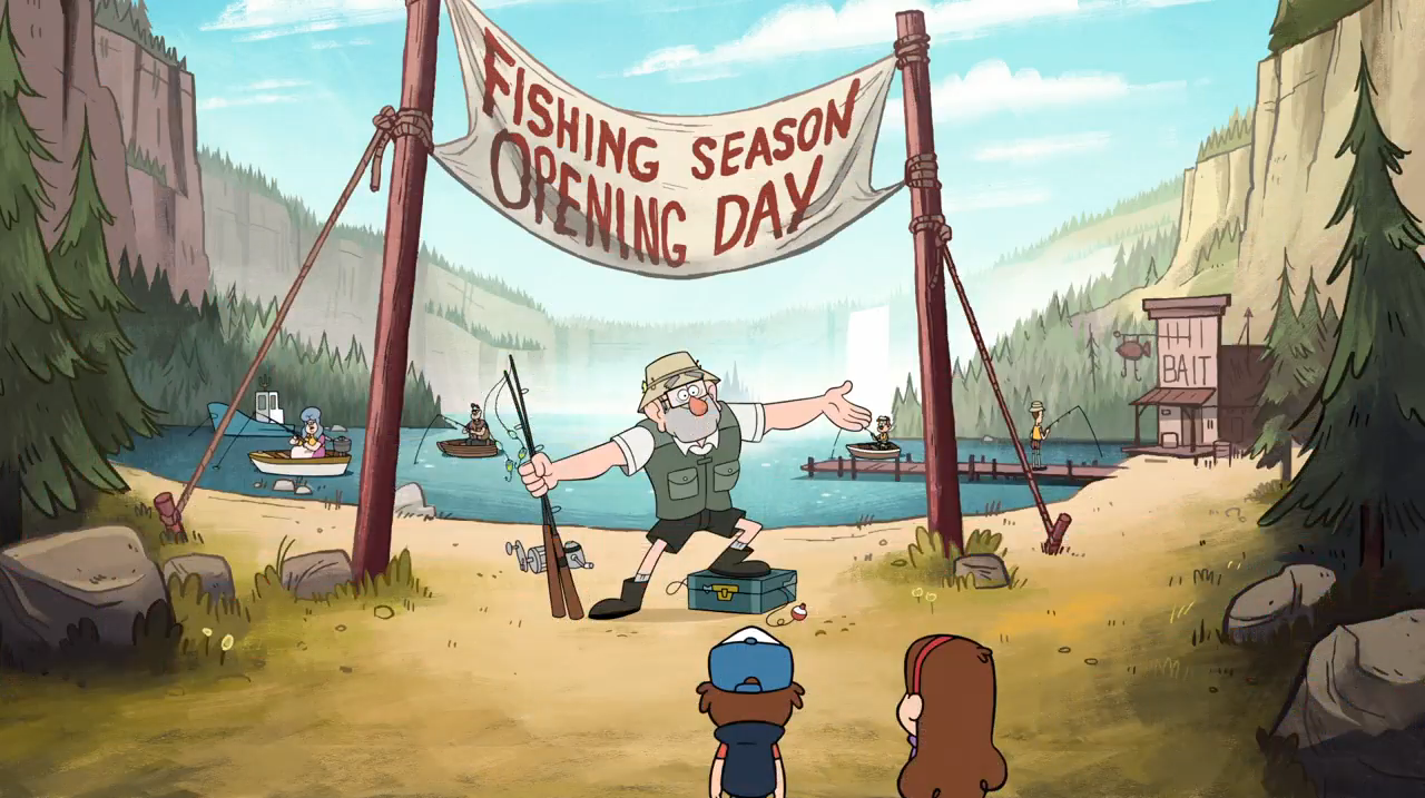 Fishing Season Opening Day Gravity Falls Wiki Fandom