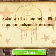 Весь мир в вашем кармане. Что означает, что ваши брюки должны быть огромными.