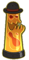 Demonio Lampara de Lava apariencia