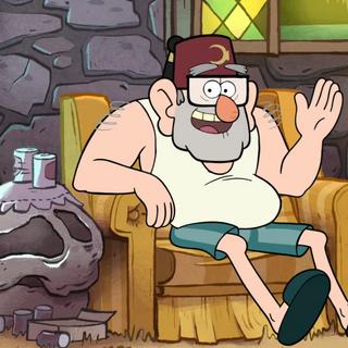 Стэн в домашней одежде.