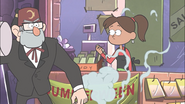 S1e12 Grunkle Stan throws a smoke bomb