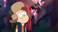 S2e20 Dipper looks good in Wendy's hat