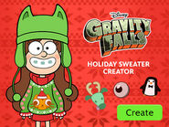 Holiday sweater creator