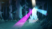 S1e11 crystals in forest
