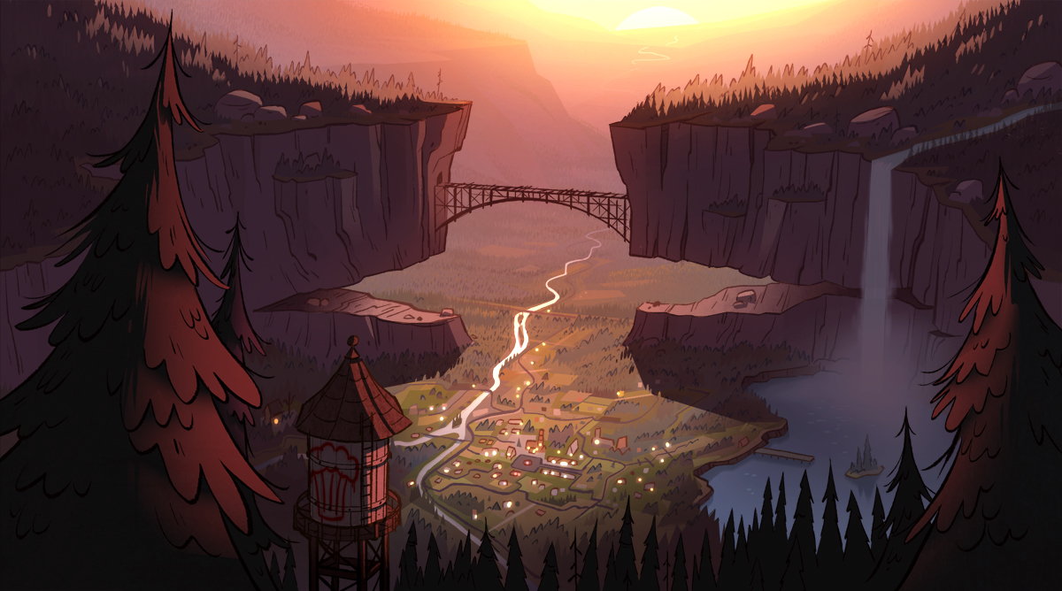 Mt Hood Corvallis And Bly Are All Real Locations Munities In Oregon I Superimposed The Gravity Falls Map On This One Though Had To Stretch It