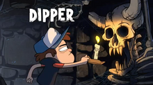 Dipper in the opening theme of gravity falls disney