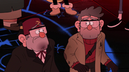 S2E20 ford and stan looking at each other