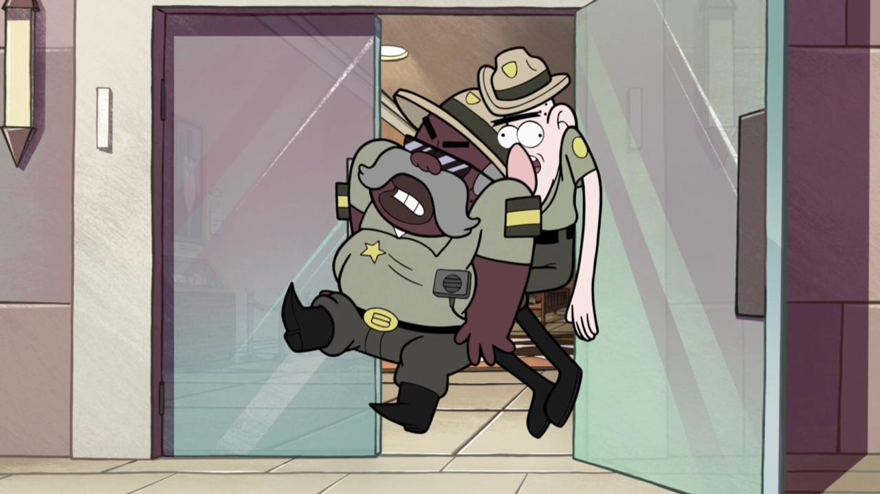 S1e8 cops stuck in door.png & Image - S1e8 cops stuck in door.png | Gravity Falls Wiki | FANDOM ...