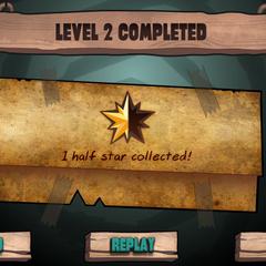 2 уровень был сделан с половиной звездой