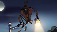 S1e12 The Creature in the coat hangs on the lampost