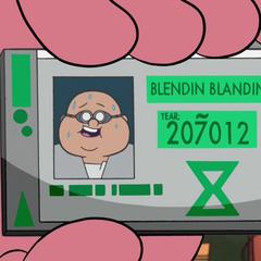 Идентификационная карточка Блендина