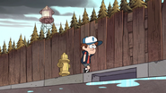 S1e14 Dipper walking in a nice background