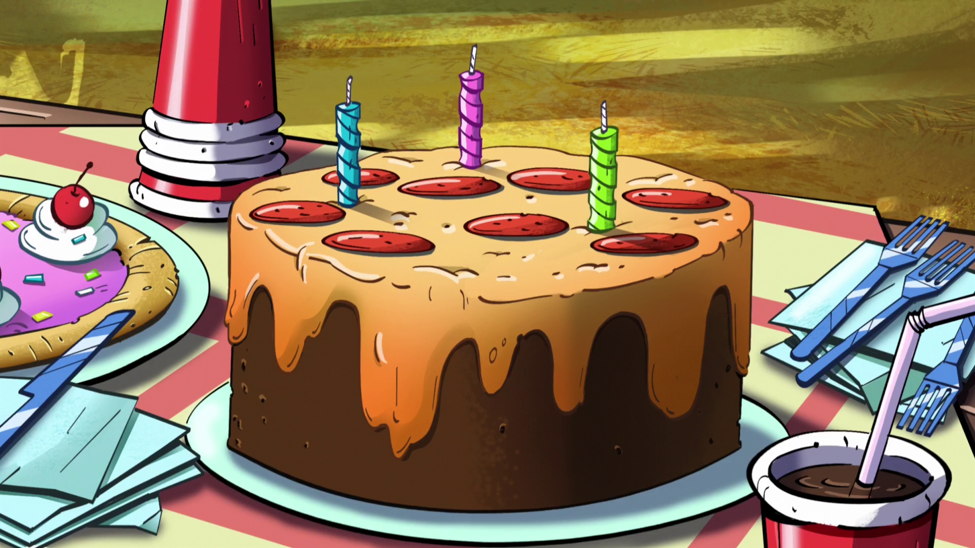 Image S2e8 pizza cakepng Gravity Falls Wiki FANDOM powered by