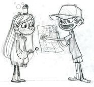 Dipper y Mabel Brigette Barrager