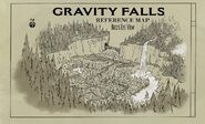 Gravity Falls Reference Map