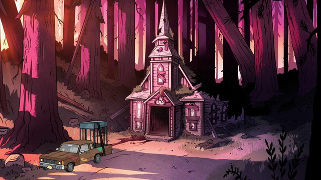 File:S1e18 abandoned church and soos truck.png
