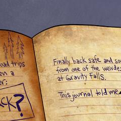 Диппер дополняет страницу о гномах.
