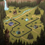 Mystery shack attack new world map