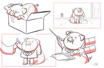 Chris Houghton S1e12 waddles memes sketches