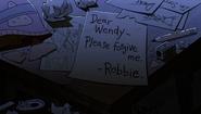 S2e9 robbie's desk