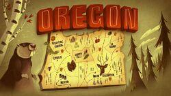 S1E1 Gravity Falls Oregon Karte