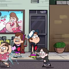 В эпизоде «Игра Блендина» у Робби черные волосы и большой, красный нос.
