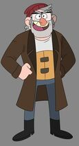 Gravity falls stan with cane
