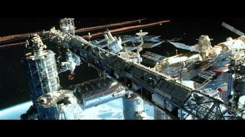 Ryan and Matt arrive at the International Space Station - Gravity Scene