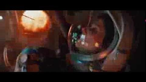 Gravity re entry scene